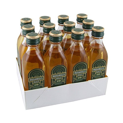 Bushmills 10 year old Irish Malt Whiskey 5cl Miniature - 12 Pack