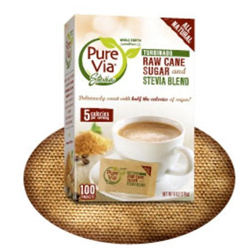 Pure Via All Natural Stevia and Turbinado Raw