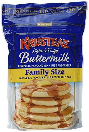 Krusteaz Light & Fluffy Buttermilk Complete Pancake Mix Family Size ~ 5 Lb Bag
