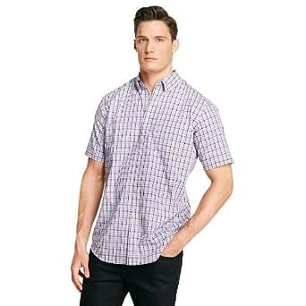 Van heusen plaid no iron casual button down shirt big for Van heusen plaid shirts