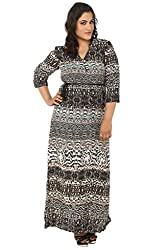 LastInch Tiger Printed Long Dress With Sleeve_LIWC233-M