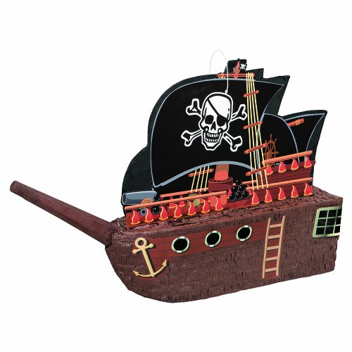 "Pirate Ship Pinata, 17.5 X 26"""
