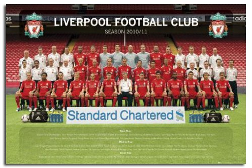 Liverpool FC 2010 - 2011 Team Photo Poster - 91.5 x 61cms (Approx 36 x 24 Inches)