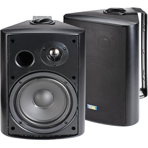 TIC ASP-120B Architectural Series 120-Watt Exterior Patio Speakers, Black