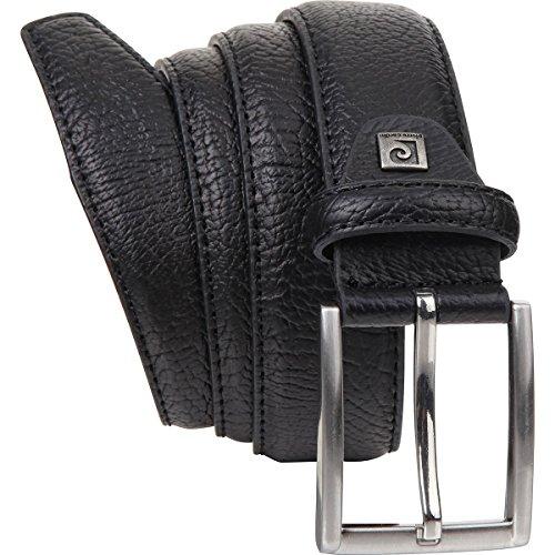 Cintura uomo de pelle / Cintura uomo Pierre Cardin, nero, 35 mm, 8095, Größe / Size:105;Farbe / Color:nero