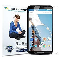 Tech Armor Google Nexus 6 High Defintion (HD) Clear Screen Protectors - Maximum Clarity and Touchscreen Accuracy [3-Pack] Lifetime Warranty