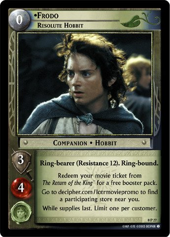 Lord of the Rings TCG - Frodo, Resolute Hobbit (P) - Promotional - 1