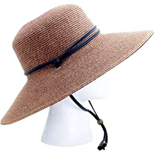 Sloggers Womens Light Brown Wide Brim Braided Hat by Sloggers