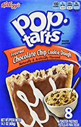 Pop-Tarts Toaster Pastries, Frosted Chocolate Chip Cookie Dough 8 Count (2 Boxes)