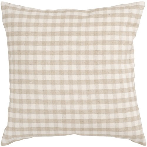Look Black Friday 22 Beige and Ivory Simply Plaid Decorative Down Throw Pillow 016 Black ...