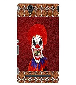 PrintDhaba Scary Joker D-4067 Back Case Cover for SONY XPERIA T2 ULTRA (Multi-Coloured)
