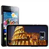 Fancy A Snuggle Roman Colosseum in Rome Italy Design Hard Case Clip On Back Cover for Samsung Galaxy S2 i9100