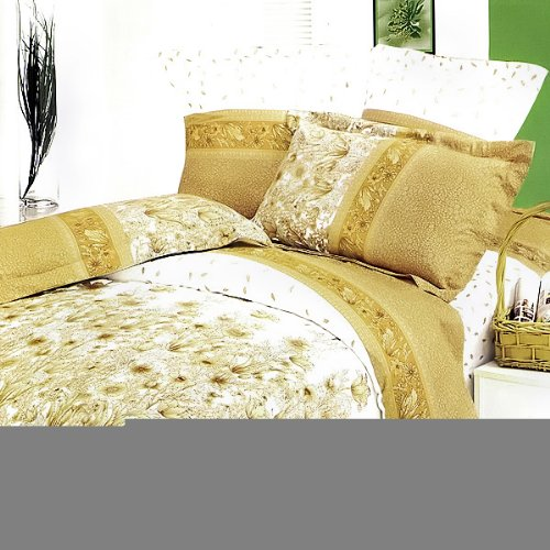 Blancho Bedding - [Field of Blossoms] Luxury 7PC Bed In A Bag Combo 300GSM (King Size)