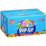 Pop-Ice 6 Fruity Flavors Giant Freeze Pops. 9.6 lb. -100 Count. Kids Favorite Hot Summer Snacks Popsicle