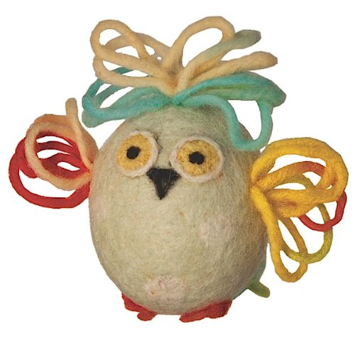 Wild Woolie Handfelted Easter Ornament, Egglin-mint