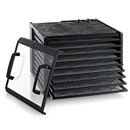 Excalibur 3926TCDB 9 Tray Dehydrator with Clear Door and Timer