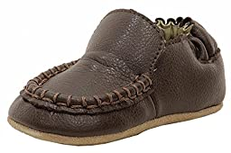 Robeez Driver Mini Shoe (Infant), Espresso, 6-9 Months M US Infant