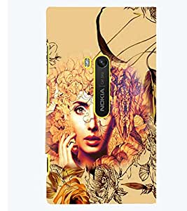 PRINTSWAG FLOWERS WITH GIRL Designer Back Cover Case for NOKIA LUMIA 920
