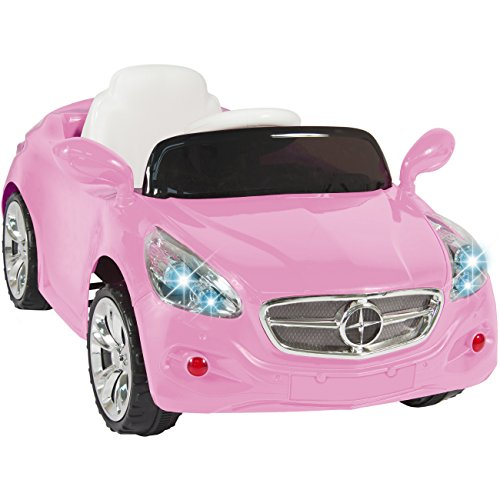 best choice products kids 12v electric power wheels rc car ride on with radio mp3 pink little kid cars