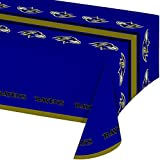 Creative Converting All Over Print Baltimore Ravens Plastic Banquet Table Cover