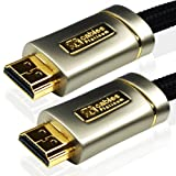 3M (3 Meter) XO PLATINUM HDMI TO HDMI Cable *New 1.4 Version High-Speed with ETHERNET and 3D 15.2GPS* FULL HD 1080p for XBOX 360, PS3, SKYHD, VIRGIN BOX, DVD, BLU-RAY, NINTENDO Wii U, LCD, LED, PLASMA, Dolby TrueHD, Samsung LG SONY PANASONIC HDTVby Cableson