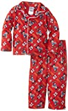 Mickey Mouse Little Boys' Two-Piece Mickey Mouse Sport Button-Front Shirt with Printed Pant Pajama Set