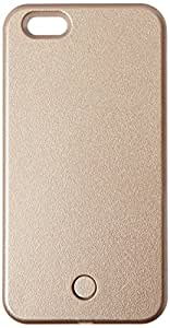 Iphone 6/6s Plus Illuminated Phone Case made for taking Bright Selfies (Gold )