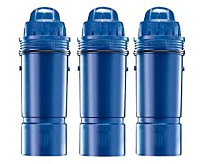 PUR CRF-950Z 2-Stage Water Pitcher Replacement Filter, 3-Pack