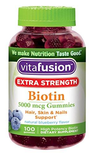 Vitafusion Extra Strength Biotin Gummies, 100 Count