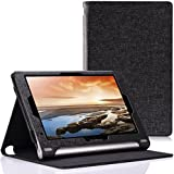 MoKo Lenovo Yoga 10 / Yoga 10 HD+ Folio Case - Premium Leather Cover Case for Lenovo Yoga Tablet 10.1 - Inch / Yoga Tablet 10.1 - Inch HD+ Android 4.3 Jelly Bean Tablet, BLACK (With Smart Cover Auto Wake / Sleep)