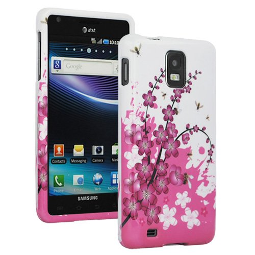 GTMax Spring Flowers Snap On Hard Case For Samsung i997 Infuse 4G Cell Phone