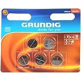Grundig CR2025 - Batterie a bottone, confezione da 5
