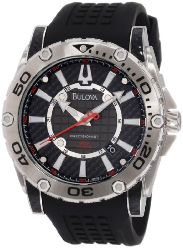Bulova Men's 96B155 Precisionist Champlain Rotating bezel Watch