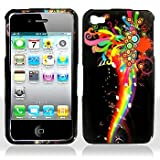 Premium - Apple iPhone 4 Musical Rainbow Cover - Faceplate - Case - Snap On - Perfect Fit Guaranteed