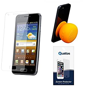 Qualitas Pack of 8 Matte Screen Protector for Motorola Moto G 2nd Gen XT1068 + Waterproof Bluetooth Suction Stand Speaker