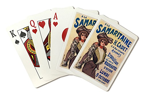 a-la-samaritaine-vintage-poster-france-playing-card-deck-52-card-poker-size-with-jokers