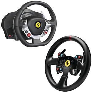 Thrustmaster Xbox One/PC Ferrari 458 Italia Edition TX Racing Wheel with 4060047 Ferrari GT F458 Challenge Wheel Add-on from Thrustmaster