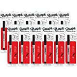 Sharpie Permanent Marker, Ultra Fine Point, Black (Pack of 12)