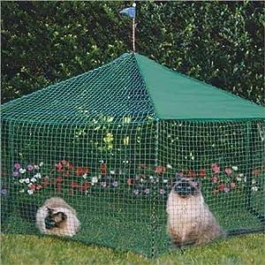 Gazebo Outdoor Cat Enclosure Green