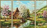 Schipper 609260664 - Malen nach Zahlen Triptychon - Ländliche Idylle, 80 x 50 cm hergestellt von Noris
