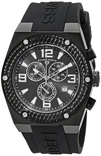 Swiss Legend Men's 30025-BB-01-SA Throttle Chronograph Black Dial Watch
