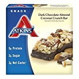 Atkins Snack Bars, Dark Chocolate Almond Coconut Crunch, 1.4 oz. Bars, 5 Count