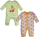 FS Mini Klub Baby Girls' Sleep suits - Pack of 2 (88EGOSL0080 Y_3_3 - 6 Months, Multi-Coloured, 3 - 6 Months)