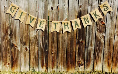 Give Thanks Fall sign