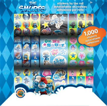 The Smurfs Movie Stickers by the Roll - 1000 Stickers - 1