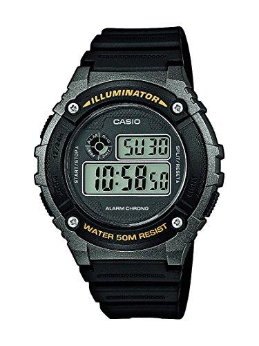 Casio W-216H-1BVEF - Reloj de pulsera hombre, resina, color negro