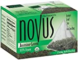Novus Jasmine Green 100% Organic Tea, 12-Count Tea Bags (Pack of 6)