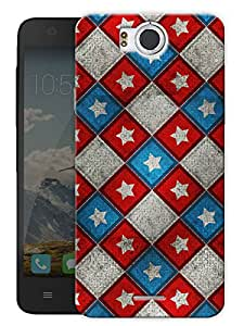 "Star And Boxes Pattern Printed Designer Mobile Back Cover For ""Google Infocus M530"" By Humor Gang (3D, Matte Finish, Premium Quality, Protective Snap On Slim Hard Phone Case, Multi Color)"