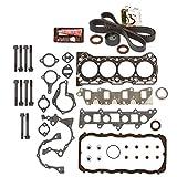 Evergreen HSHBTBK8000 Head Gasket Set Head Bolts Timing Belt Kit 86-95 Suzuki Samurai Swift 1.3 8V