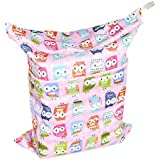 LOVE MY Baby Waterproof Washable Reusable Wet And Dry Cloth Diaper Bag,(Lovely Owl)